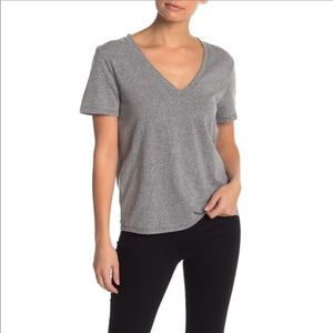 NEW BP / GREY SHORT SLEEVE V NECK TEE